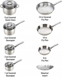 A Complete T Fal Cookware Set