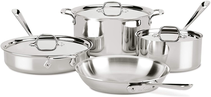 All-Clad 4007AZ D3 Cookware Set