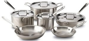 All-Clad BD005710-R D5 - Dishwasher Safe Stainless Steel Cookware