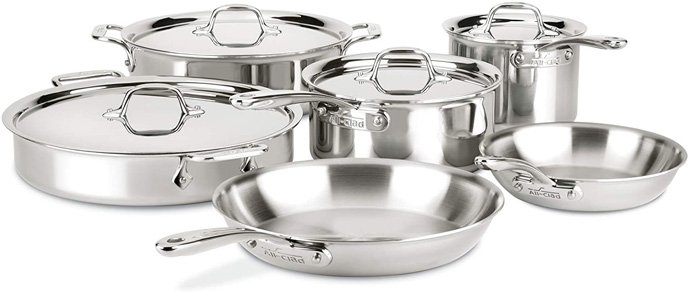 All-Clad D3 Compact Stainless Steel Cookware Set