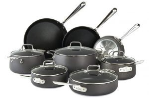 All-Clad HA1 8-Piece Hard Anodized Nonstick Cookware Set