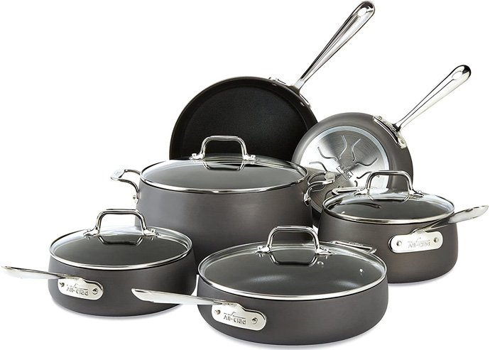All-Clad Ha1 Hard Anodized Nonstick Cookware Set