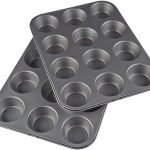AmazonBasics Nonstick Carbon Steel Muffin Pan
