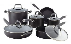 Anolon Advanced 11-Piece Cookware Set - Best Nonstick Cookware for Gas Stove