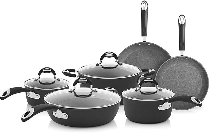 Bialetti Impact, 07559 Nonstick Cookware Set