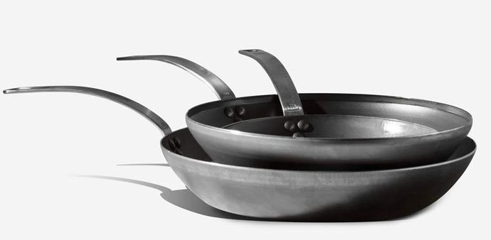 Blue Carbon Steel Kits by Made In Cookware