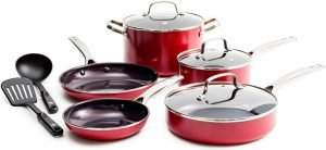 Blue Diamond Red Diamond Cookware Set Review
