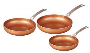 CONCORD 3 Piece Best Ceramic Pan Copper Coated