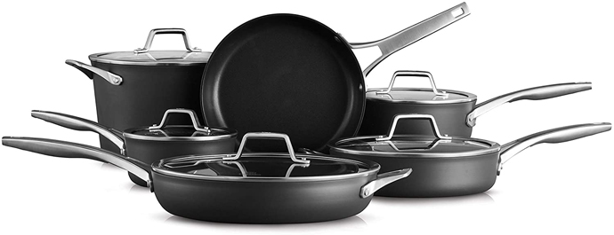 Calphalon 2029626 Premier Hard Anodized Cookware Set
