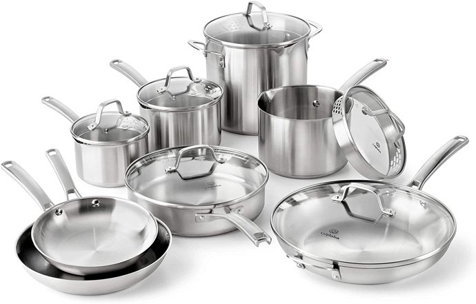 Calphalon Classic Pots And Pans Set (Stainless Steel)