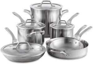 Calphalon Signature 10 Piece Stainless Steel Cookware Set