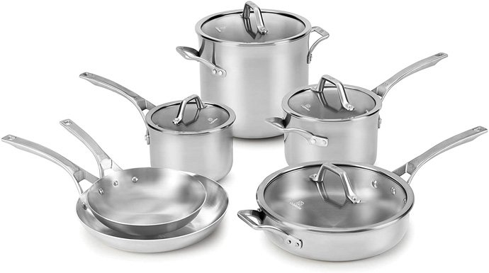 Calphalon Signature Stainless Steel Pots and Pans Set