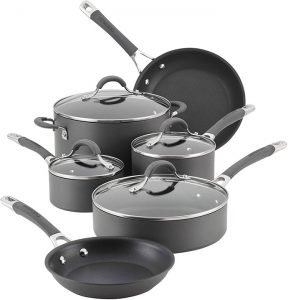 Circulon 83903 Radiance Hard Anodized Nonstick Cookware Pots and Pans Set