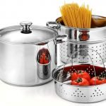 Cook N Home 02401, Stainless Steel 4-Piece 8 Quart Pasta Cooker