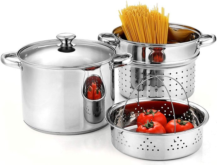 Cook N Home 02401 Stainless Steel Pasta Cooker