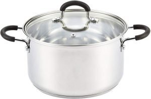 Cook N Home 02418 Stainless Steel Lid 5-Quart Stockpot