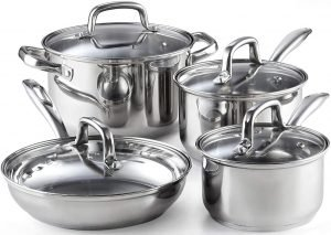 Cook N Home Stainless Steel 8-Piece Cookware Set