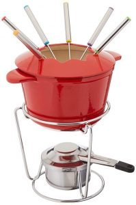 Cuisinart FP-115RS 13-Piece Cast Iron Fondue Set
