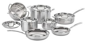 Cuisinart MCP-12N Multiclad Pro - Best Pots and Pans for Glass Top Stove
