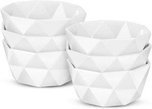 Delling Geometric 8 Oz Porcelain Ramekins