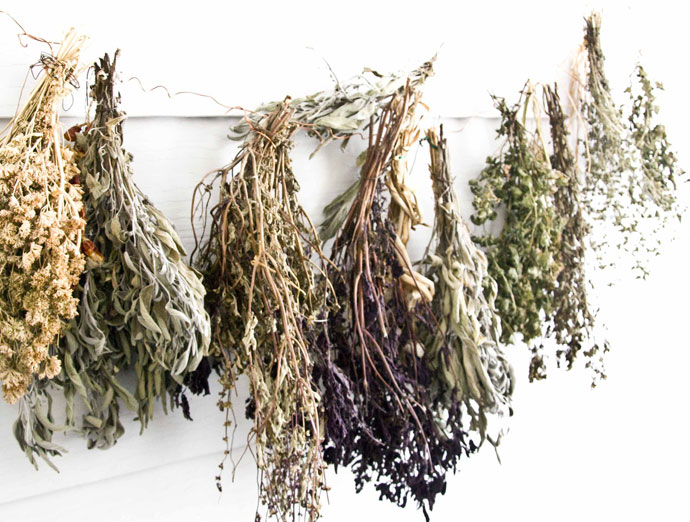 Dried Herbs Go First