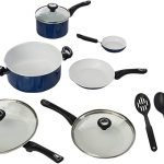 Farberware Ceramic Dishwasher Safe Nonstick Cookware Pots and Pans Set