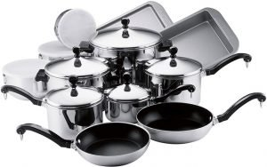 Farberware Classic Stainless Steel Cookware Pots and Pans Set