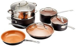 GOTHAM STEEL Best Non Stick Pots and Pans Set