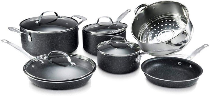 GRANITESTONE 2807 Non-Stick Granite Coated Cookware Set