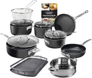GRANITESTONE Stackmaster 15 Piece Cookware Set