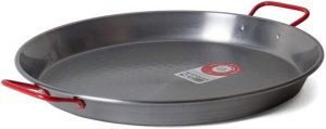 Garcima C-15RED 15-Inch Carbon Steel Paella Pan
