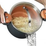 Gotham Steel 5 Quart Multipurpose Pasta Pot with Strainer