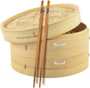 Gourmet Styles | Traditional Handmade Natural Bamboo Steamer Basket