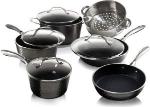 Granite Stone Diamond Cookware – 10 Piece Set