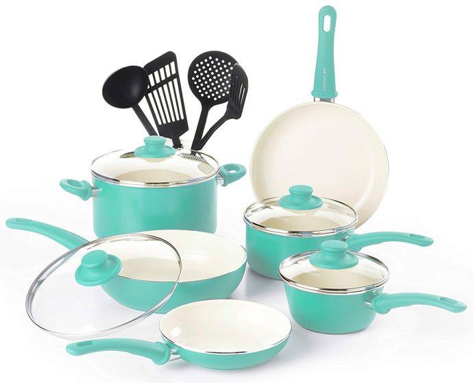 GreenLife Soft Grip Ceramic Cookware Set
