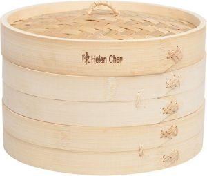 "Helen Chen's Asian Kitchen 10"" Bamboo Steamer Basket"
