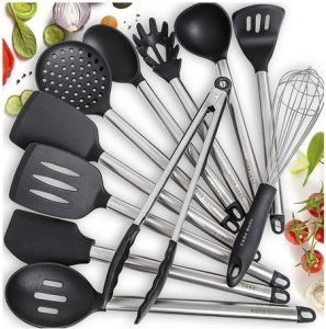 Home Hero 11 Silicone Made Cooking Utensils Set
