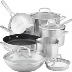 KitchenAid 3-Ply Base Brushed Stainless Steel Cookware Set