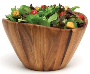 Lipper International 1174 Acacia Wave Serving Bowl