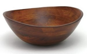 Lipper International 294 Cherry Finished Wavy Rim Serving Bowl