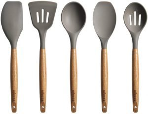 Miusco 5 Piece Utensil Set (Made of Silicone)