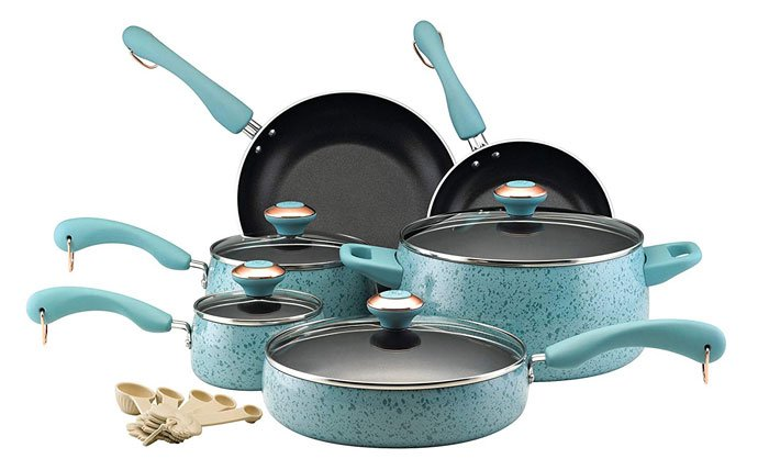 Paula Deen Signature Nonstick 15 Piece Porcelain Cookware Set Review