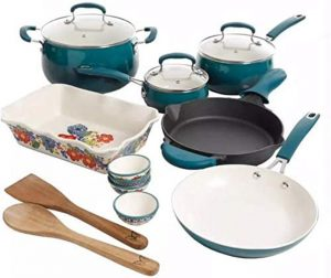 Pioneer Woman 17 Piece Cookware Set
