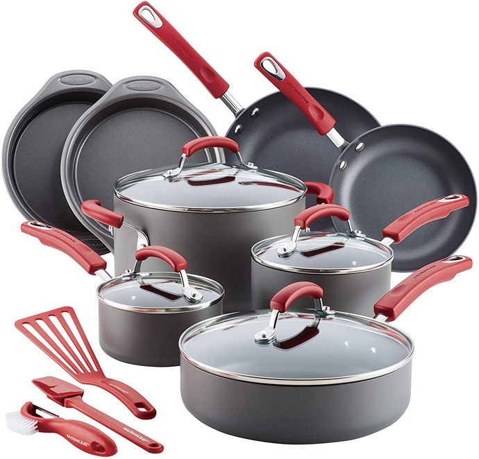 Rachael Ray 87670 Aluminum Cookware Set