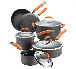 Rachael Ray Anodized Nonstick 10-Piece Cookware Set