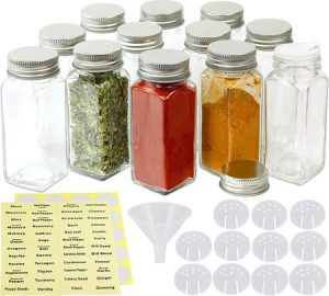 Simple Houseware 12 Square Spice Bottles