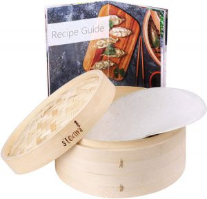 Steami - Bamboo Steamer (10 inch) with Liners