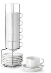 Sweese 405.001 Porcelain Stackable Espresso Cups