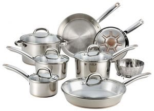 T-fal C836SD Ultimate Stainless Steel Copper Bottom Cookware Set