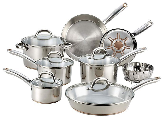 T-Fal (C836SD) Stainless Steel Cookware Set
